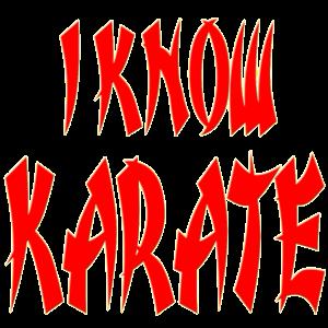 I KNOW KARATE