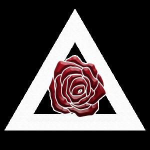 Rose Dreieck Romantisch und Astrakt