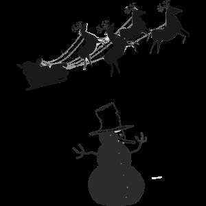Weihnachten Schneemann Rentiere