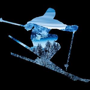 Skifahrer Bergmuster