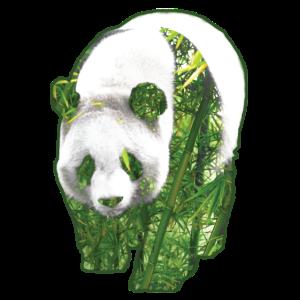 Panda Doppelbelichtung Shirt