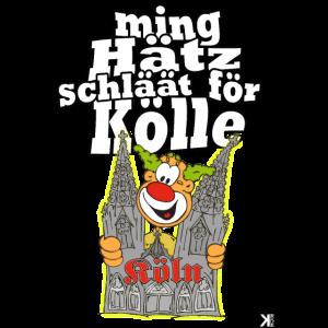 ming Hätz schläät för Kölle Kostüm Köln Karneval