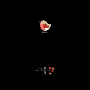 Weihnachten Vogel Mistel Shirt Geschenk