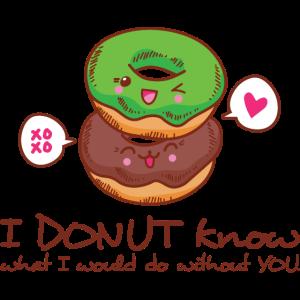 Donut Know Geschenk Valentinstag Partner Liebe