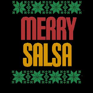 Ugly Merry Salsa Tanz T-Shirt I Xmas Geschenk