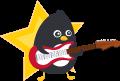 Motif Pingouin guitariste