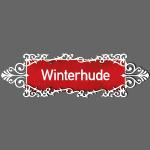 Hamburg-Winterhude Ortschild mit Ornament