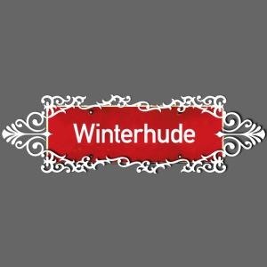 Hamburg Winterhude Ortschild mit Ornament