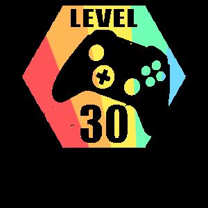 Level 30 Unlocked - 30th Birthday Gift Design