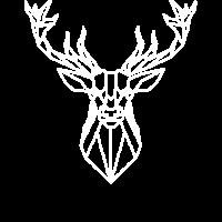Hirsch Shirt Deer Polygonal