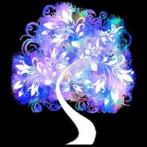 Baum lila Mädchen Mädchenhaft funkeln Glitzer Bunt