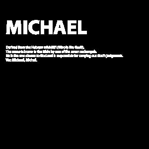 Name Michael Geschenk Idee weiss