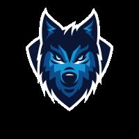 Wolf Wölfe Zeichnung Geschenk Tier Sport Logo