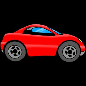 Auto Kinder, rotes Auto