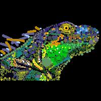 Iguanodon Reptil Punkte Punkte