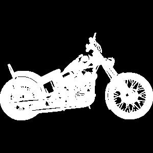 Motorrad Chopper Cruiser Biker Mechaniker Geschenk