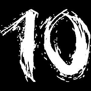 Nummer Zehn zahl 10 spray bürste Vektor Trend