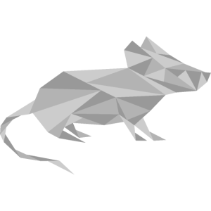 Maus geometrisch grau Tier
