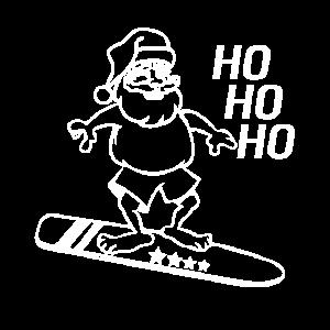 Nikolaus am Surfen auf einem Surfbrett