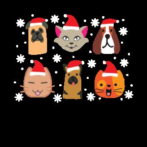 Tierische Weihnachtsfeier mit Hund und Katze