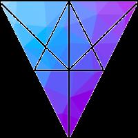 gxp geometrisches Dreiecksmuster blau violett