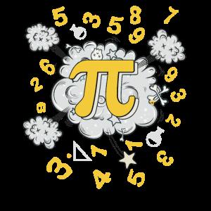 Pi-Tagest-shirt Mathe-Lehrer-Sonderling-Algebra-Pi-Shirt
