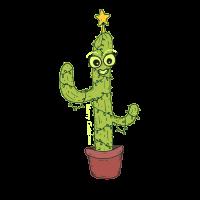 Lächelnder Weihnachtskaktus