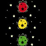 Marienkäfer mit Ampelfarben und Sternen für Kinder