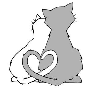 Katzenliebe mit Herz