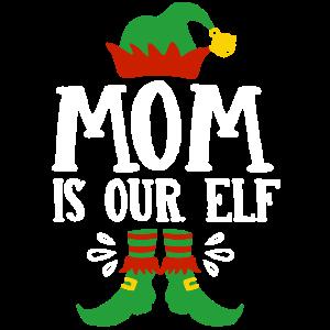 Mama Elfe Weihnachten 2018 t-shirt Geschenk Elf