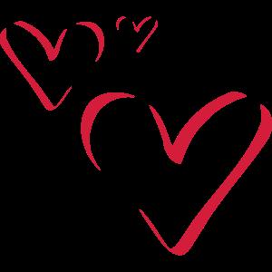 Kalligrafie 3 Herzen