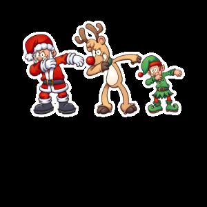 Weihnachtsmann Rentier Elf Nikolaus Dabbing Dab