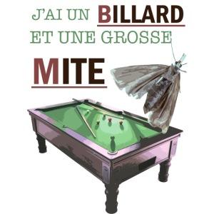 Billard et Grosse mite