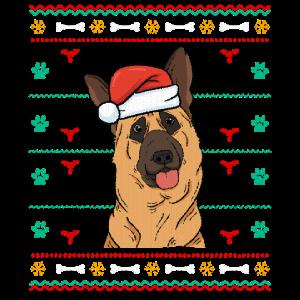 Ugly Christmas Schäferhund Weihnachtsgeschenk