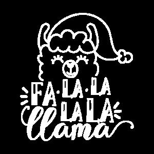 La Lama Weihnachten Tier Geschenk Mütze Bommel