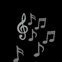 Musik aus Lautsprecher Notenschlüssel Noten Note