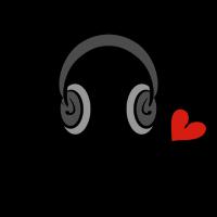 I love music - Kopfhörer - ich liebe Musik