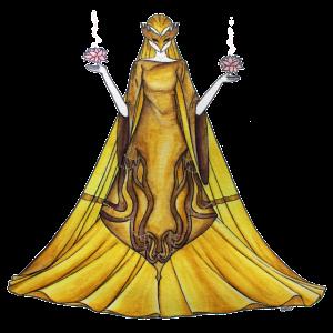 Gerechtigkeit in Gold gekleidet