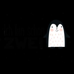 2. Geburtstag, zwei, zweiter, Birthday, Pinguin