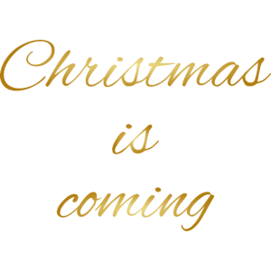 Christmas is coming gold Weihnachten Fashion Winte