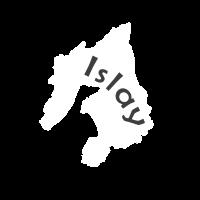 Karte der Whisky Insel Islay in Schottland