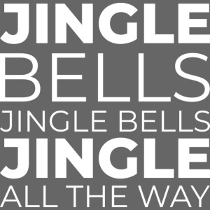Weihnachtsgrafik weihnachtslied jingle bells weiss