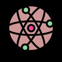 Atome lustige und niedliche Geschenkidee