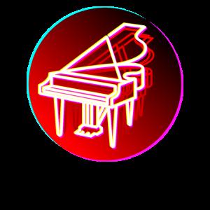 Grand Piano Retro 70er Jahre 80er Jahre Klavier Pianist Geschenk