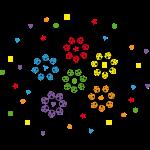 Marienkäfer zum Farbe und Form lernen für Kinder