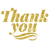 Thank you Danke golden Glitter Glitzer