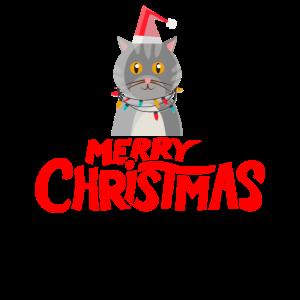 Süße weihnachten Katzen mit lichterkerze t shirt