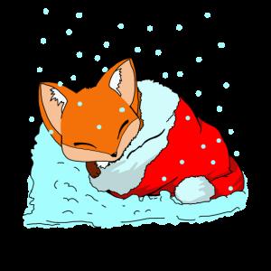 schlafender kleiner Fuchs in Mütze Geschenk Tshirt