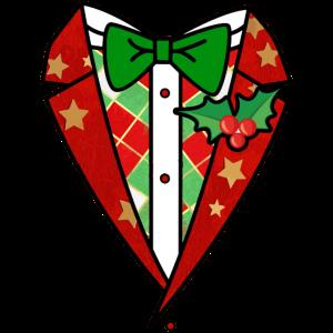 Weihnachten Anzug Smoking Schleife Weihnachtsmarkt