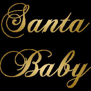 Santa Baby gold Weihnachten Fashion Winter Geschen
